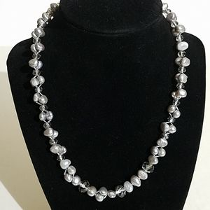 925 clasp silver pearl necklace 3b7